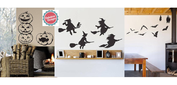 www.oakdenedesigns.com FACEBOOK | TWITTER | INSTAGRAM GHOSTS HALLOWEEN WALL STICKERS […]