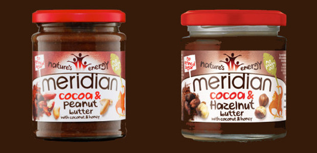Meridian Foods Cocoa & Hazelnut Butter or Cocoa & Peanut […]