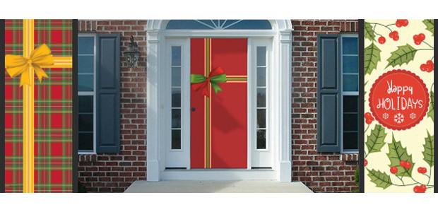 Christmas Door Covers.Splendoorz Reusable Fabric Christmas Door Covers Are Ready