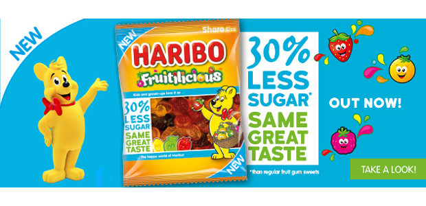 A FRUITILICIOUS SUGAR REDUCED TREAT FROM HARIBO www.haribo.com TWITTER   […]