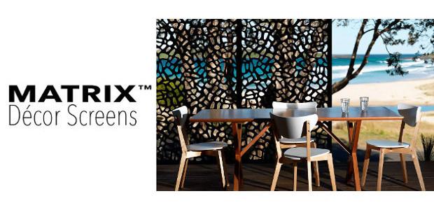 Matrix Décor Screens and Wall Art (www.matrixdecorscreens.com), recycled decorative privacy […]