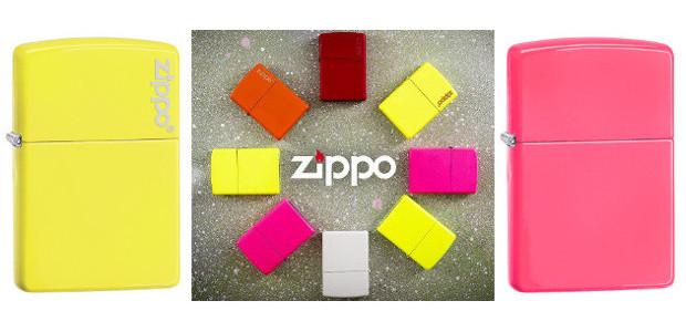 Neon (hi) lighters from Zippo. www.zippo.co.uk FACEBOOK | YOUTUBE | […]