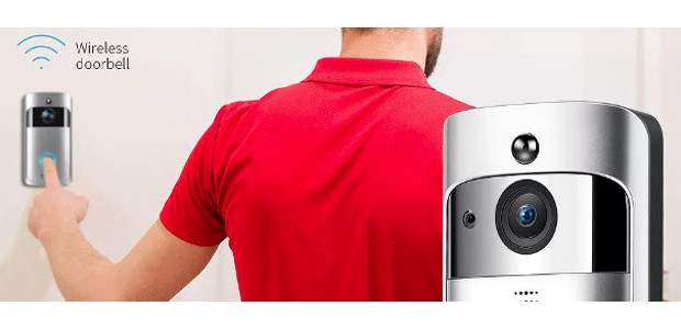 Wireless Video Doorbell with LED Ring Button HD Wifi […]
