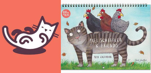 Beautiful cat-themed calendar by Axel Scheffler (illustrator of The Gruffalo) […]