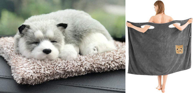 Car Air Purifier, Activated Carbon Dog Plush, Decoration Sleeping Puppy […]