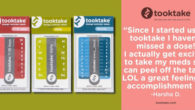 tooktake. Dosage Reminder Labels. Get well. Stay well. One dose […]