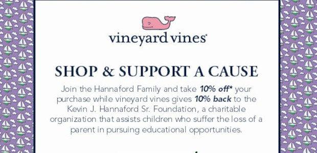 Kevin J. Hannaford, Sr. Foundation, Inc. Shop to Support @ […]
