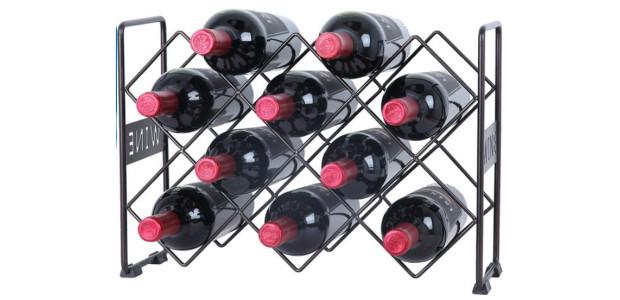 Finnhomy 10 Bottle Wine Rack with WINE Pattern, Wine Bottle […]